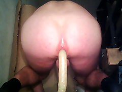 Ride on huge dildo
