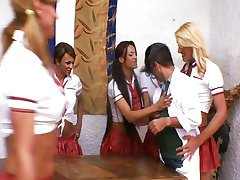 Ultra-Hot Shemale Schoolgirls 1