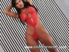Andrea bikini rojo