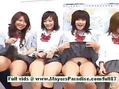 Horny asian schoolgirls at school
