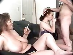 Threesome with my voluptuous busty wife and neighbor chick