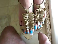 Cum High Heel Long Blue Toes - heelslovers@pornhub