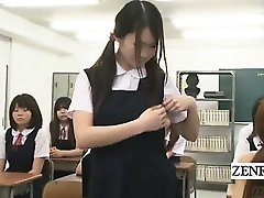 Subtitled CFNM Japan nudist student milf teacher strips