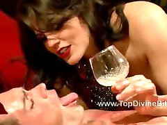 Bobbi gives John a lesson in servitude