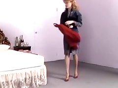 Retro sievu augstiem papēžiem savvaļas fuck