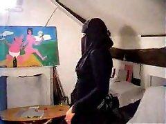 Arapski Djevojka Udarac Kuhati