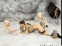 Monsters Neuken 3D Elf Meisjes!
