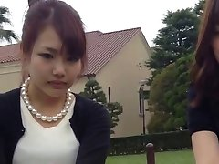 Bare Feet and Pantyhose Asian girls show Feet