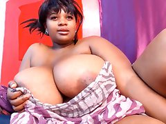 Ebony big boobs webcam: Blackrose