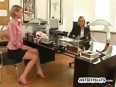 Hardcore Lesbisk jobbintervju