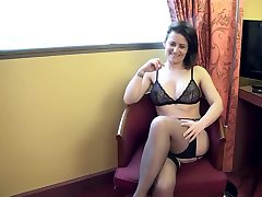 Amelie double penetrated in stockings