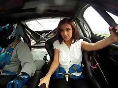 Model in Racing Car