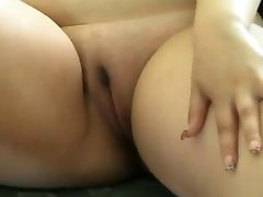 Fat BBW love playing with her Wet shaven Creamy Pussy