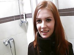 Redhead with innocent face does perv stuff