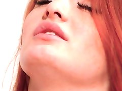 Soft and shaved redhead Denisa Heaven has a powerful orgasm