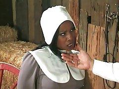 Amish lauksaimnieks annalizes melna meitene
