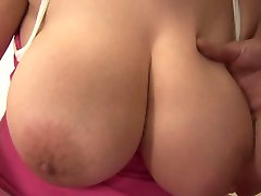 Extremely busty girl getting fucked hard