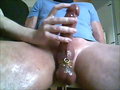 Me edging milking post cum rub trucker buddys big cock