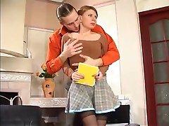 vene tüdruk kurat ja cum tema sukad