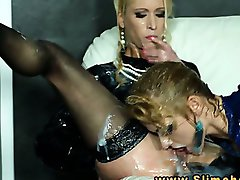 Uma and Anita Vixen at gloryhole