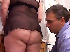 Bbw babes Seks u kuhinji