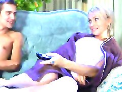 HOT MOM n147 blonde russian mature milf and a young man