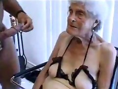 Ugly old granny gets fucked