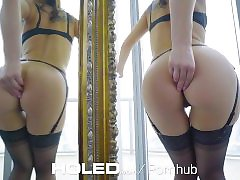 HOLED - Cute brunette Aidra Fox enjoys an anal fuckfest