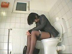 het melken in de wc