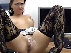 Sexy Babe Gets Anal And Pussy Covered In Jizz !