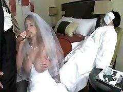 cilvēks fuck līgava, bet grooms nebija't nomodā