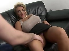 ash-blonde milf with big natural tits smooth-shaven pussy fuck