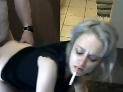 Blonde Smoking and Getting Romped