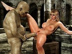 3d Huge-titted Girls Used by Orcs and Minautors!