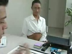 shy student Tiffany Thomas gets caught cheating and spanked by the dean