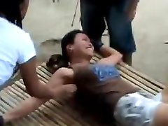 filipina tickled