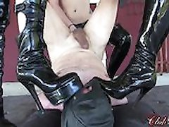 Femdom Beauties Train New Slave