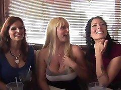 Syren De Mer Zoey Holloway and Karen Fisher fuck a waiter