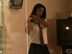 लिआ जाये - देसी स्कूली छात्रा