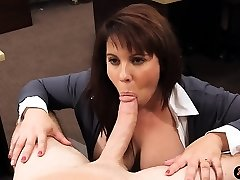 Huge milk cans amateur housewife sells her muff for bail