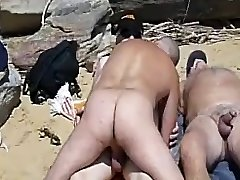 海滩3some