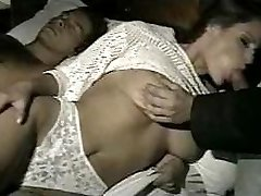 wifey gets fucked in all holes while spouse is away