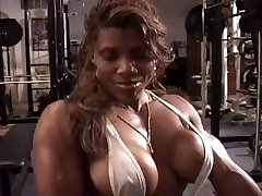 Sexy ebony treniņu