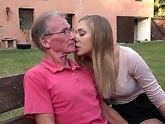 Big elder penis teaching teenie blonde anal fuck positions
