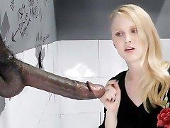 lilija räder sucks un fucks big black dick - gloryhole