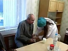 Nice Nurse Teen seduced by ugly Old Patient