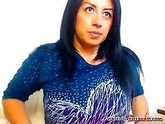 Hot Latin milf hot internal ejaculation on webcam