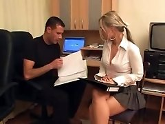 Horny Secretary-Group Sex