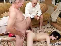 Old man cums inside first time Frannkie