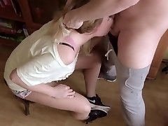 Extreme Gagging Sloppy Throatfuck. Plenty Of Of Saliva And Cum On Nike Sneakers